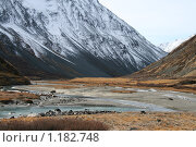Купить «Южно-Чуйский хребет, Алтай», фото № 1182748, снято 4 октября 2008 г. (c) Александр Литовченко / Фотобанк Лори
