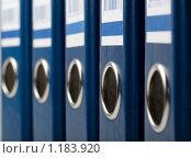 Купить «Синие папки», фото № 1183920, снято 21 апреля 2009 г. (c) Вячеслав Рящиков / Фотобанк Лори