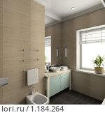 Купить «3D-интерьер ванной комнаты в современном стиле», иллюстрация № 1184264 (c) Майер Георгий Владимирович / Фотобанк Лори