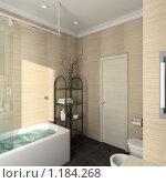 Купить «3D-интерьер ванной комнаты в современном стиле», иллюстрация № 1184268 (c) Майер Георгий Владимирович / Фотобанк Лори