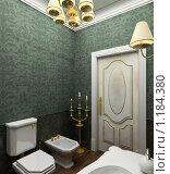 Купить «3D-интерьер стильной ванной комнаты в классическом стиле», иллюстрация № 1184380 (c) Майер Георгий Владимирович / Фотобанк Лори