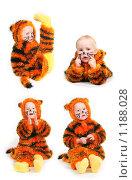 Купить «Девочка - тигренок», фото № 1188028, снято 2 ноября 2009 г. (c) Ирина Солошенко / Фотобанк Лори