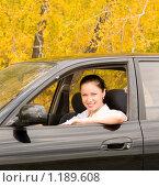 Купить «Девушка за рулем», фото № 1189608, снято 27 сентября 2009 г. (c) Насыров Руслан / Фотобанк Лори