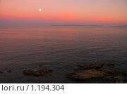 Купить «Закат на море», фото № 1194304, снято 14 сентября 2005 г. (c) Бабенко Денис Юрьевич / Фотобанк Лори