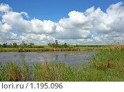 Купить «Река под облаками», фото № 1195096, снято 24 мая 2009 г. (c) Сергей Литвиненко / Фотобанк Лори