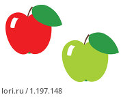 Яблоки. Стоковая иллюстрация, иллюстратор Сергей Панкратов / Фотобанк Лори