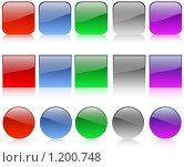 Набор кнопок для сайта. Стоковая иллюстрация, иллюстратор Никитина Евгения / Фотобанк Лори