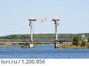 Железнодорожный мост через залив. Выборг (2009 год). Стоковое фото, фотограф Александр Щепин / Фотобанк Лори