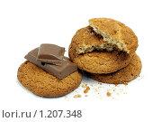 Овсяное печенье и шоколад. Стоковое фото, фотограф Елена Гришина / Фотобанк Лори