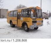 Купить «Школьный автобус ПАЗ», фото № 1208868, снято 22 января 2009 г. (c) Юрий Акимов / Фотобанк Лори