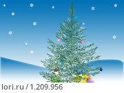 Купить «Ель», иллюстрация № 1209956 (c) Овсяник Анна Владимировна / Фотобанк Лори
