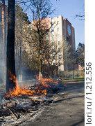 Весенний пожар (2009 год). Стоковое фото, фотограф Кузнецов Сергей / Фотобанк Лори