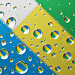 Фантастические капли воды. Отражение диаграммы, иллюстрация № 1212888 (c) Алексей Рогожа / Фотобанк Лори