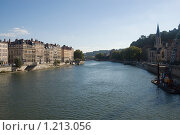 Купить «Река Рона, Лион, Франция», фото № 1213056, снято 11 сентября 2007 г. (c) Синицын Игорь / Фотобанк Лори
