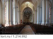 Купить «Внутреннее убранство Кафедрального Собора Непорочного Зачатия Пресвятой Девы Марии. Москва», эксклюзивное фото № 1214992, снято 27 апреля 2009 г. (c) lana1501 / Фотобанк Лори
