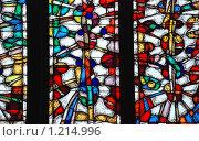 Купить «Витраж в Кафедральном Соборе Непорочного Зачатия Пресвятой Девы Марии. Москва», эксклюзивное фото № 1214996, снято 27 апреля 2009 г. (c) lana1501 / Фотобанк Лори
