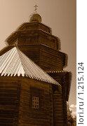 Деревянная церковь (2009 год). Редакционное фото, фотограф Олег Абрамов / Фотобанк Лори