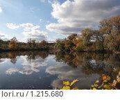 Пруд осенью. Ясная поляна. Стоковое фото, фотограф Екатерина Петрова / Фотобанк Лори