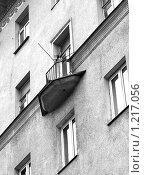 Купить «Московские балконы. Новинский бульвар», фото № 1217056, снято 15 ноября 2009 г. (c) Ярослав Каминский / Фотобанк Лори