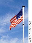 Американский флаг (2008 год). Стоковое фото, фотограф Петр Кириллов / Фотобанк Лори