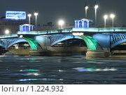 Благовещенский мост (2008 год). Редакционное фото, фотограф Дмитрий Спецаков / Фотобанк Лори