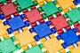 Разноцветная поверхность из деталей детского конструктора, эксклюзивное фото № 1227192, снято 20 ноября 2009 г. (c) Сайганов Александр / Фотобанк Лори