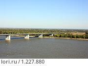 Мост через реку Обь, Барнаул, Алтайский край. Стоковое фото, фотограф Елена Гришина / Фотобанк Лори