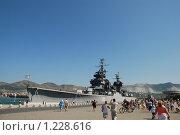 Вид на крейсер-музей (2009 год). Редакционное фото, фотограф Махмудова Галина / Фотобанк Лори
