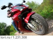 Купить «Мотоциклист», фото № 1231308, снято 9 сентября 2009 г. (c) Losevsky Pavel / Фотобанк Лори