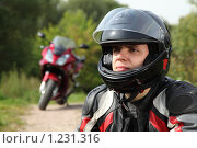 Купить «Мотоциклист», фото № 1231316, снято 9 сентября 2009 г. (c) Losevsky Pavel / Фотобанк Лори