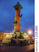 Купить «Ростральная колонна», фото № 1233880, снято 22 ноября 2009 г. (c) Михаил Фёдоров / Фотобанк Лори
