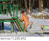 Купить «Зимнее купание в проруби», эксклюзивное фото № 1235412, снято 4 января 2009 г. (c) lana1501 / Фотобанк Лори