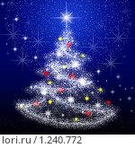 Купить «Новогодняя елочка», иллюстрация № 1240772 (c) ElenArt / Фотобанк Лори