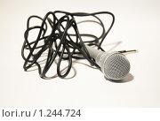 Купить «Микрофон», фото № 1244724, снято 20 ноября 2009 г. (c) Иванова Виктория / Фотобанк Лори