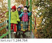 Купить «Дети играю на улице. Детский сад. Осень», фото № 1244764, снято 23 сентября 2009 г. (c) Алексей Рогожа / Фотобанк Лори