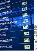 Купить «Доска вылетов в аэропорту», фото № 1245968, снято 21 ноября 2009 г. (c) Бабенко Денис Юрьевич / Фотобанк Лори