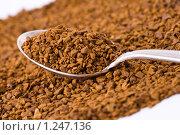 Купить «Растворимый кофе в ложке. Макро», фото № 1247136, снято 16 ноября 2009 г. (c) Никончук Алексей / Фотобанк Лори