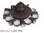 Купить «Набор для китайской чайной церемонии», фото № 1247996, снято 16 сентября 2019 г. (c) Черников Роман / Фотобанк Лори