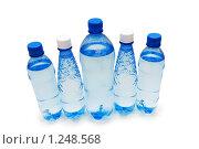Купить «Бутылки с водой, изолированно на белом», фото № 1248568, снято 28 октября 2007 г. (c) Elnur / Фотобанк Лори