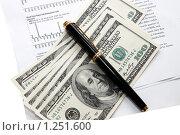 Доллары с ручкой на документации. Стоковое фото, фотограф Левончук Юрий / Фотобанк Лори