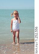 Купить «Маленькая девочка у моря», фото № 1252556, снято 20 августа 2009 г. (c) Анатолий Типляшин / Фотобанк Лори