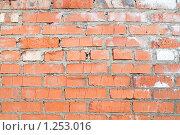 Купить «Кирпичная стена», фото № 1253016, снято 2 мая 2009 г. (c) Лагутин Сергей / Фотобанк Лори