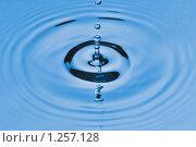 Купить «Капля, падающая в воду», фото № 1257128, снято 28 июля 2009 г. (c) Денис Ларкин / Фотобанк Лори