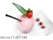 Купить «Клубничный молочный коктейль», фото № 1257144, снято 20 июня 2009 г. (c) Ярослав Данильченко / Фотобанк Лори