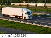 Купить «Грузовик на автостраде», фото № 1263524, снято 9 мая 2008 г. (c) Петр Кириллов / Фотобанк Лори
