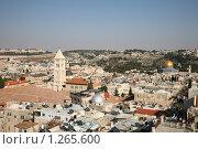 Купить «Иерусалим. Панорама старого города. Мечеть Скалы (Омара)», фото № 1265600, снято 3 декабря 2009 г. (c) Наталья Волкова / Фотобанк Лори