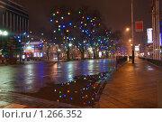 Купить «Ночные новогодние городские огни города», фото № 1266352, снято 24 декабря 2008 г. (c) Андрей Емельяненко / Фотобанк Лори