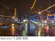 Купить «Ночные огни города Краснодара на площади Революции в динамике», фото № 1268408, снято 24 декабря 2008 г. (c) Андрей Емельяненко / Фотобанк Лори