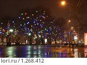 Купить «Ночные огни города Краснодара», фото № 1268412, снято 24 декабря 2008 г. (c) Андрей Емельяненко / Фотобанк Лори