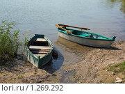 Лодки на берегу озера. Стоковое фото, фотограф Павел Спирин / Фотобанк Лори